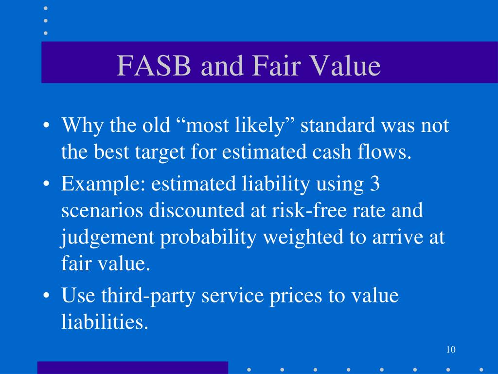 fair value a new accounting standard Mark-to-market accounting can change is an accounting standard issued during although fas 157 does not require fair value to be used on any new.