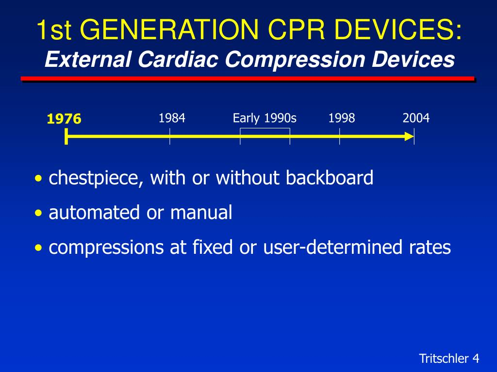 1st GENERATION CPR DEVICES: