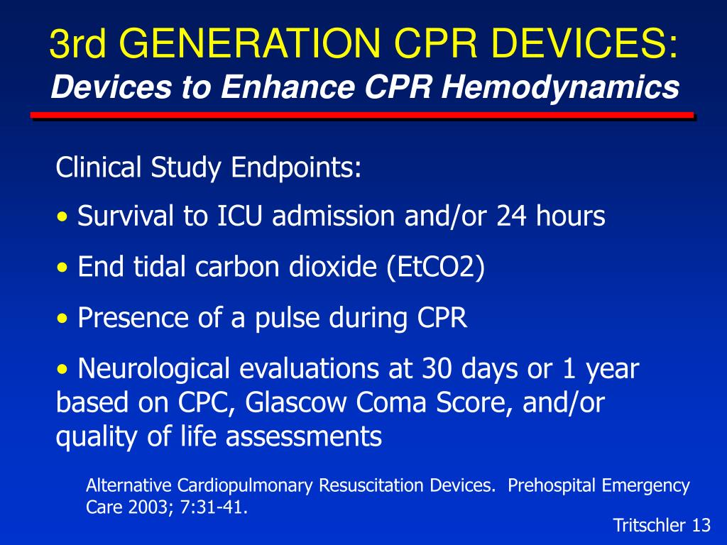 3rd GENERATION CPR DEVICES: