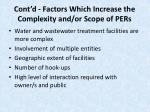 cont d factors which increase the complexity and or scope of pers15