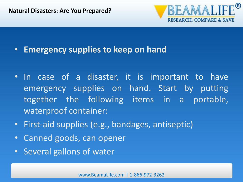Natural Disasters: Are You Prepared?