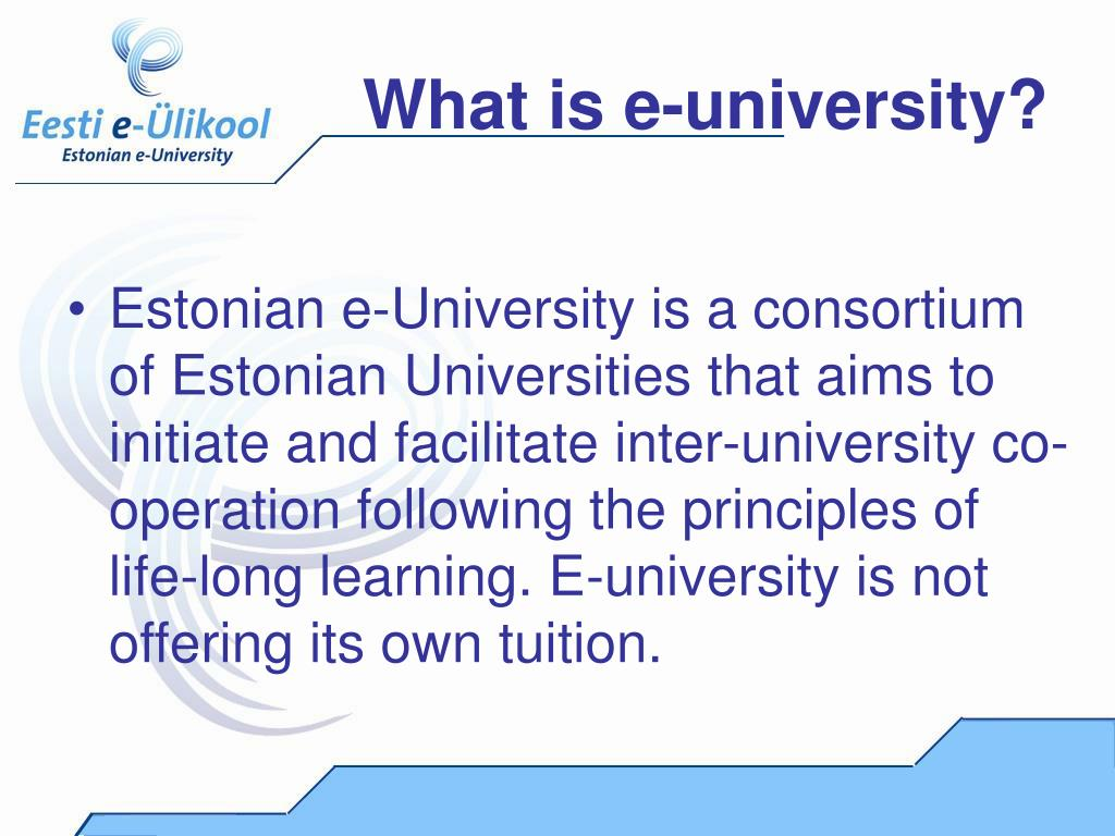 What is e-university