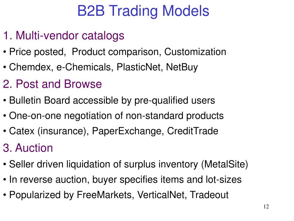 B2B Trading Models