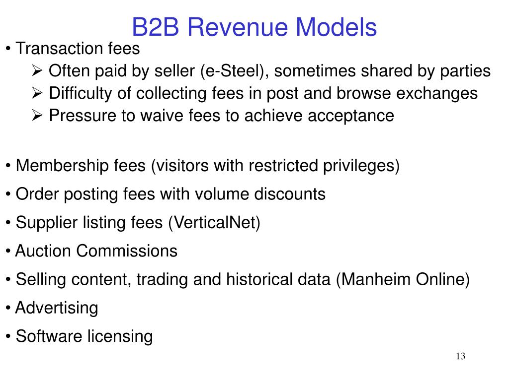 B2B Revenue Models