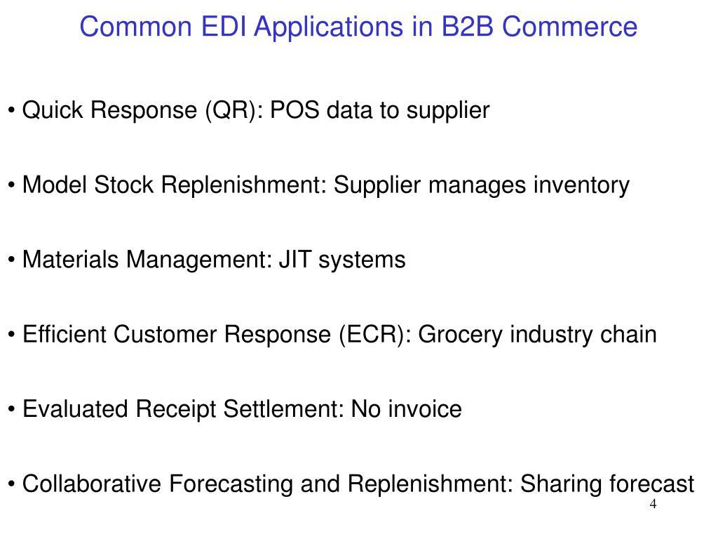 Common EDI Applications in B2B Commerce
