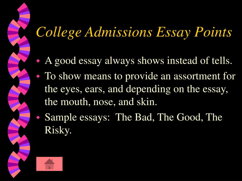 College Admissions Essay Points