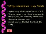 college admissions essay points4