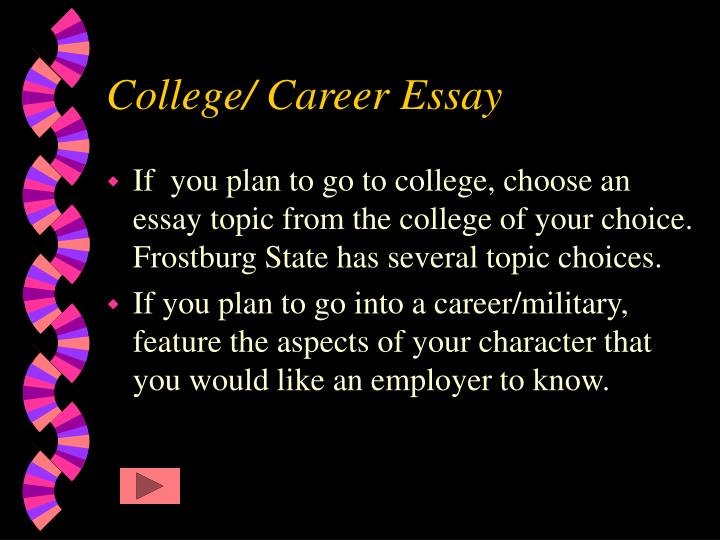 College career essay