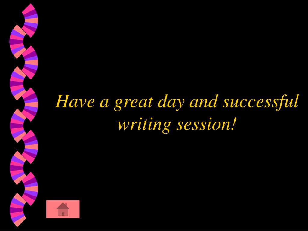 Have a great day and successful writing session!