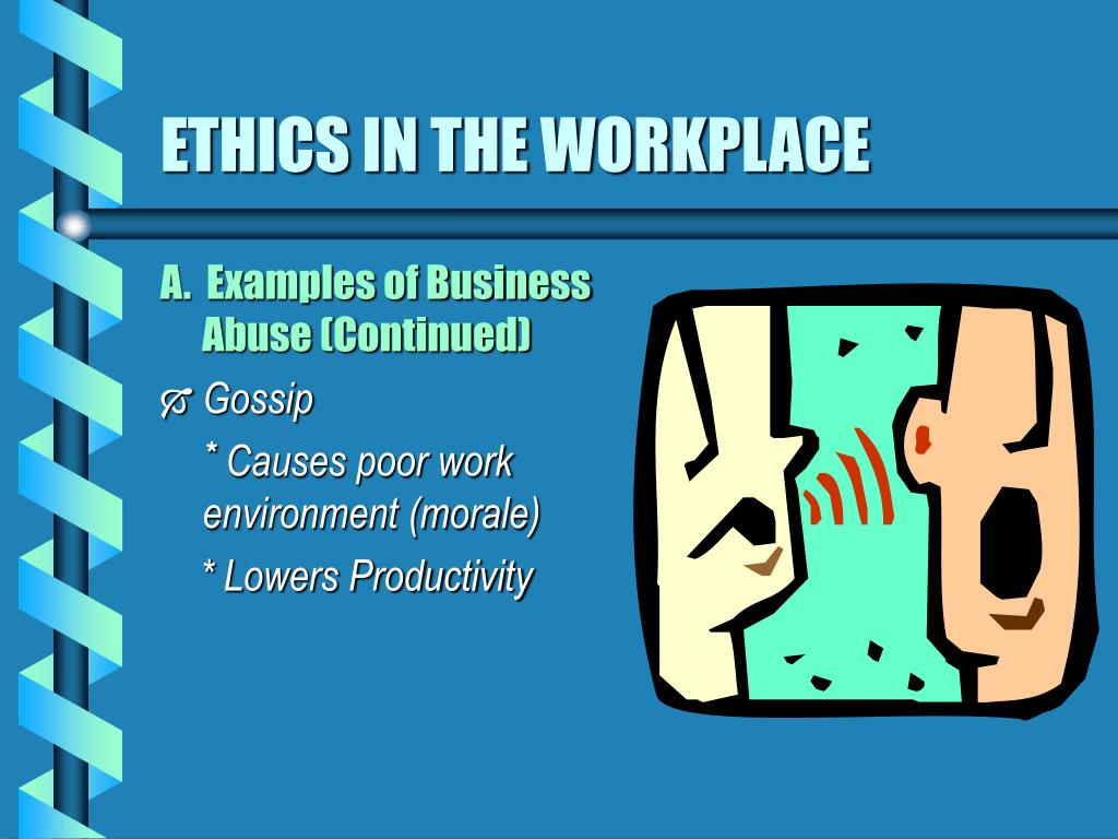 essay on work ethic This essay discusses workplace ethics ethics are very important in our everyday lives ethics exist in all aspects and spheres of life and must be.
