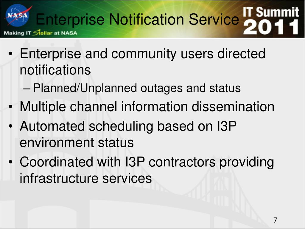 Enterprise Notification Service
