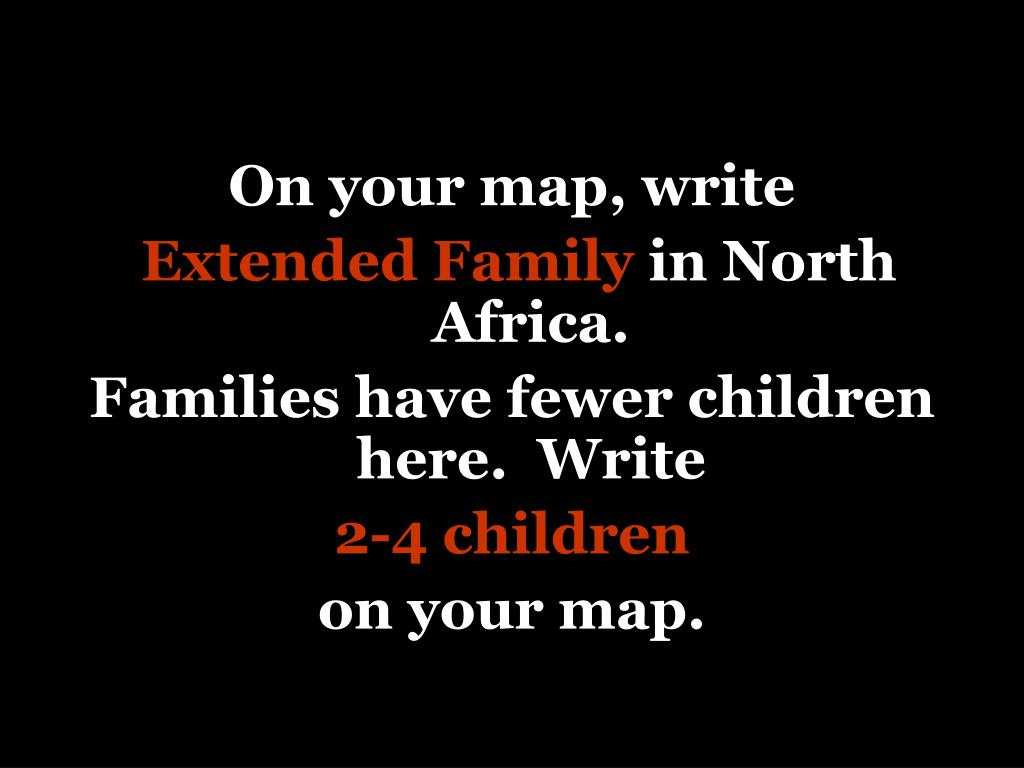 On your map, write