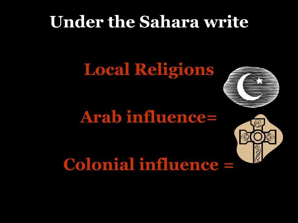 Under the Sahara write