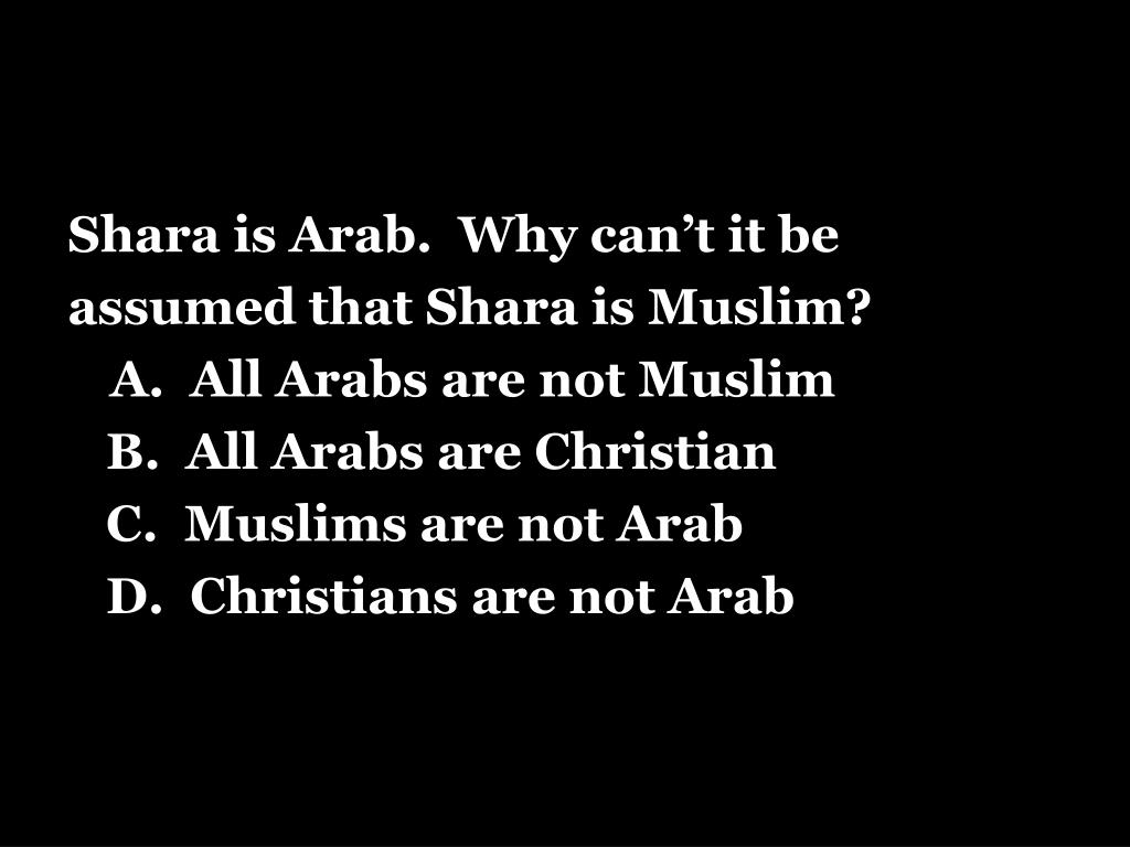 Shara is Arab.  Why can't it be