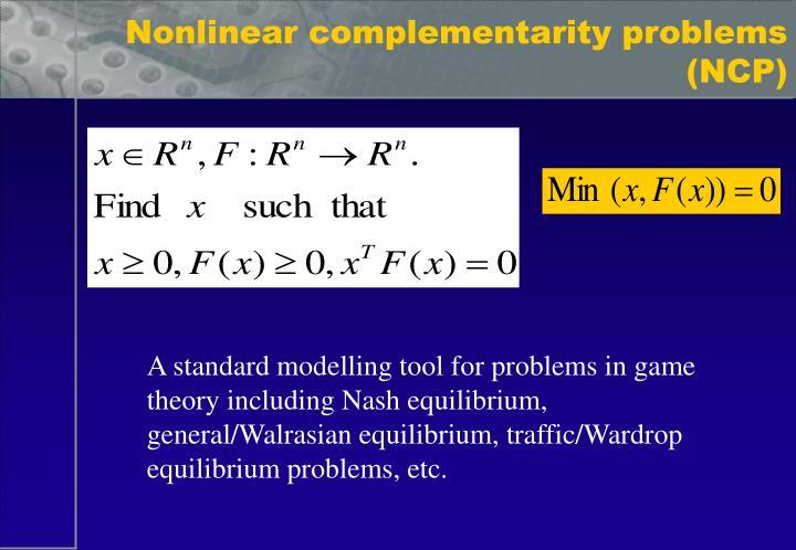 Equilibrium problems