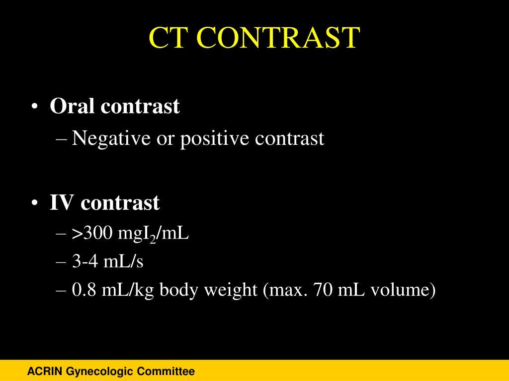 CT CONTRAST
