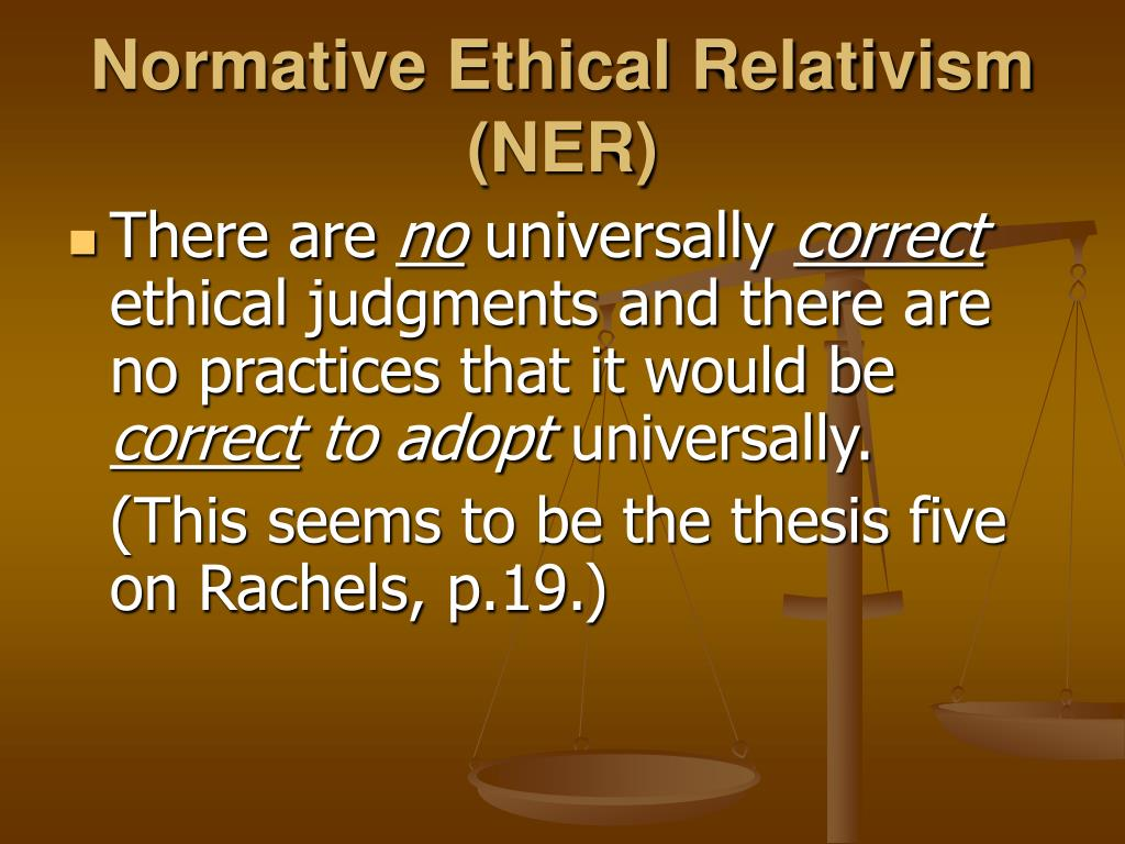 normative thesis