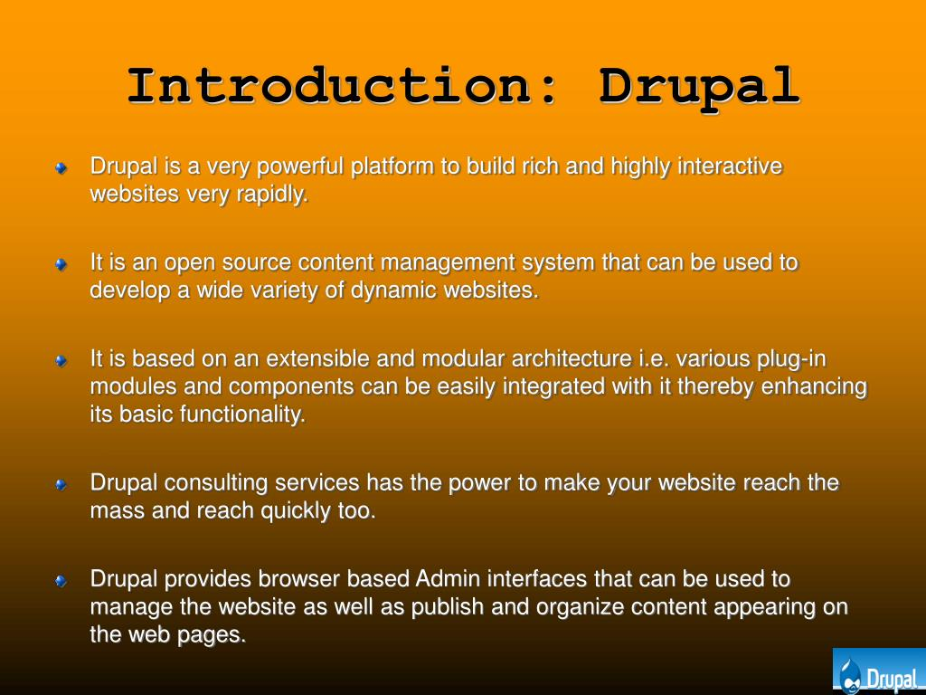 Introduction: Drupal