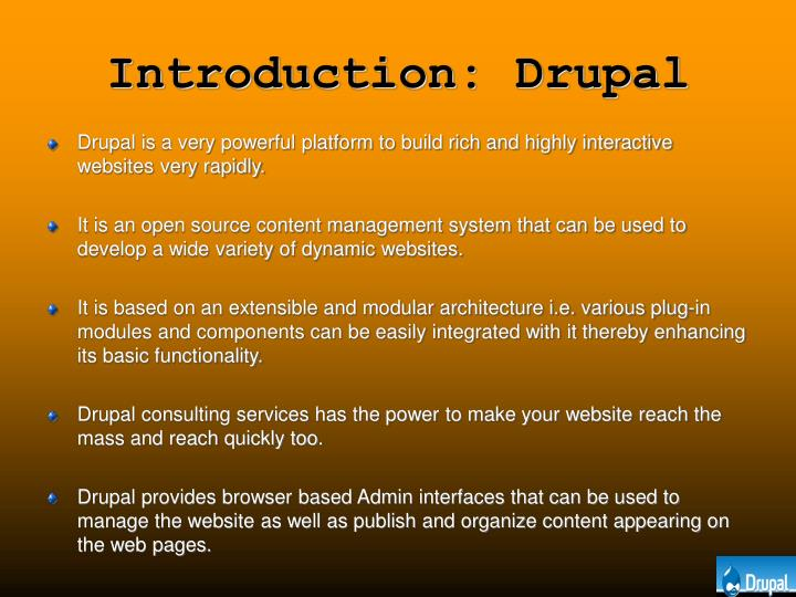 Introduction drupal