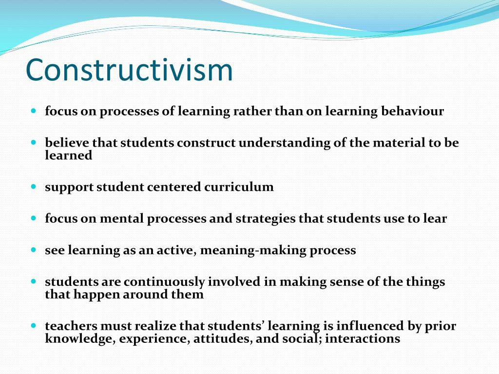 constructivism best philosophy education Classroom applications of constructivism the best way to plan classroom applications of constructivism support the philosophy of learning which build a.