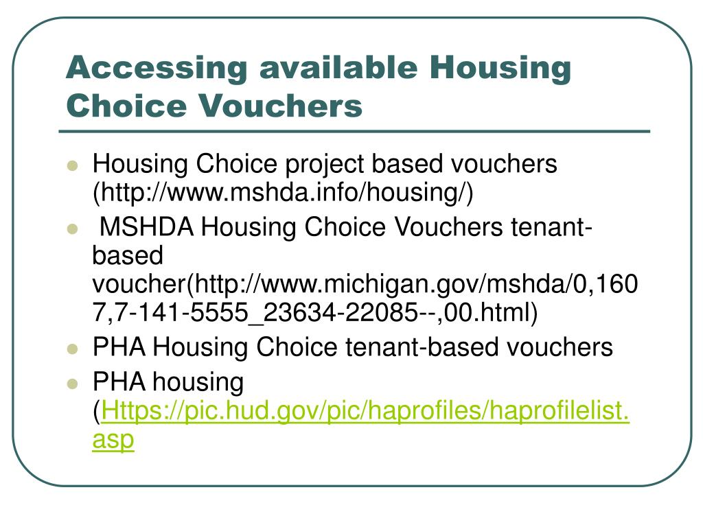 Accessing available Housing Choice Vouchers
