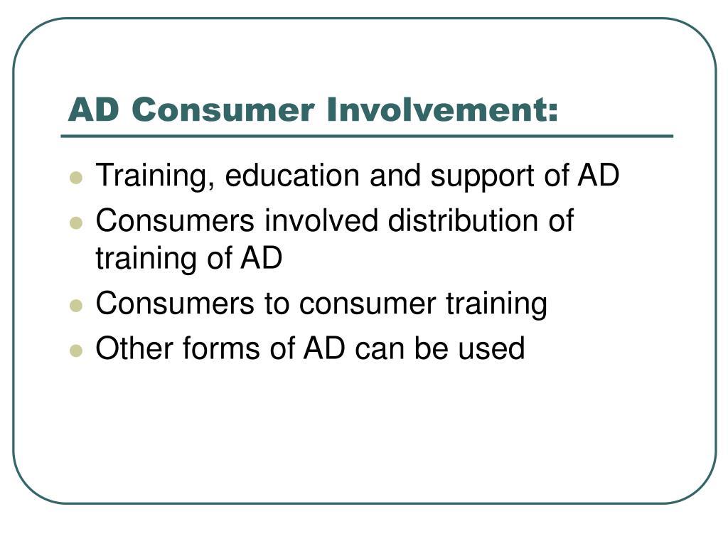 AD Consumer Involvement: