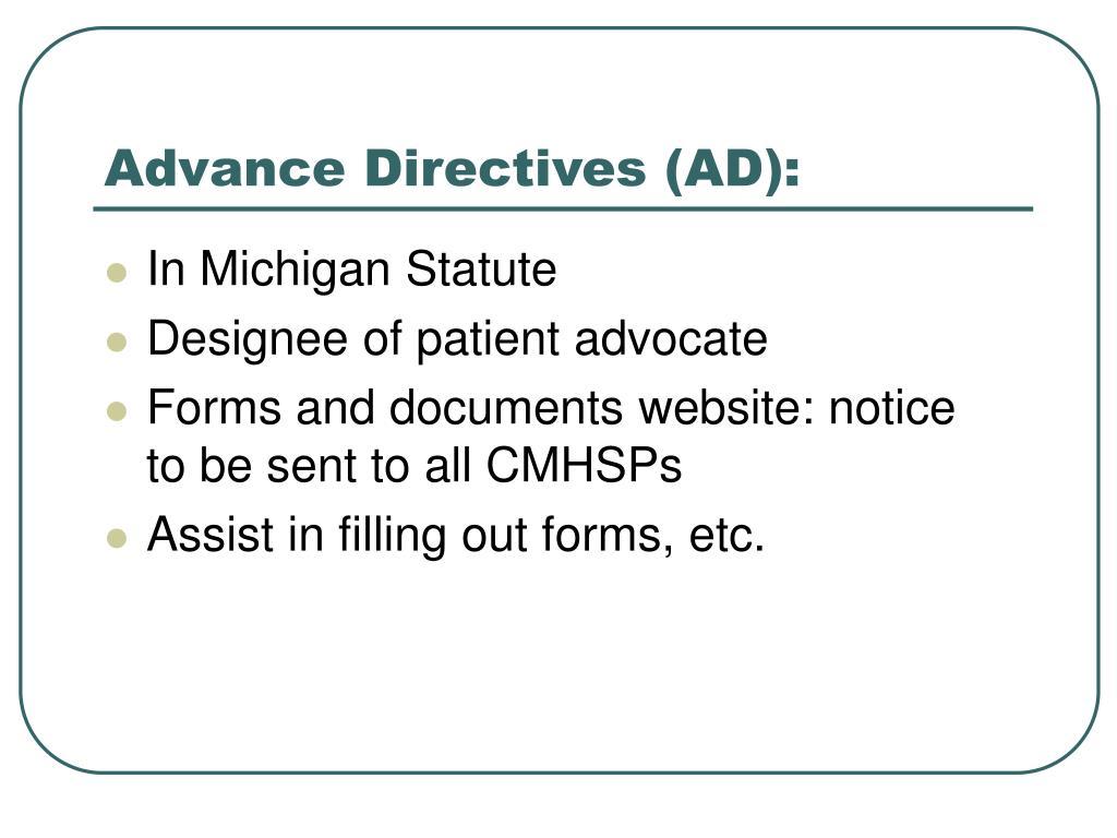 Advance Directives (AD):
