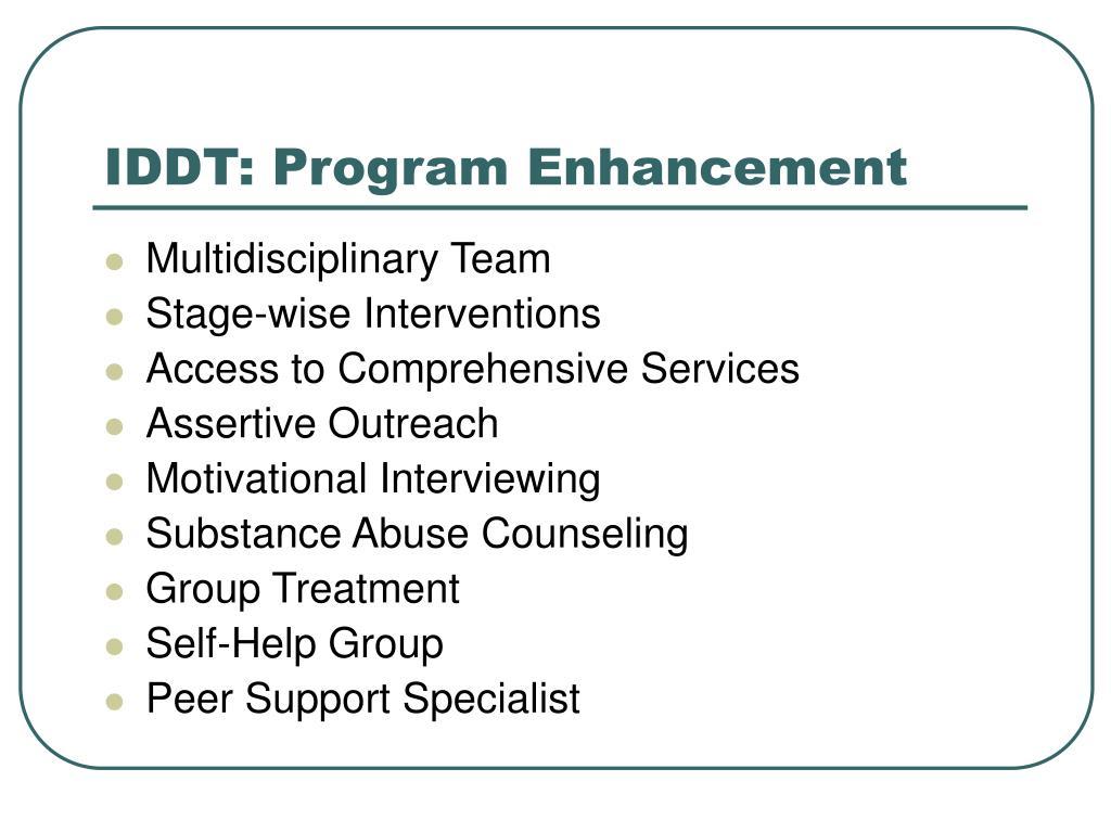 IDDT: Program Enhancement