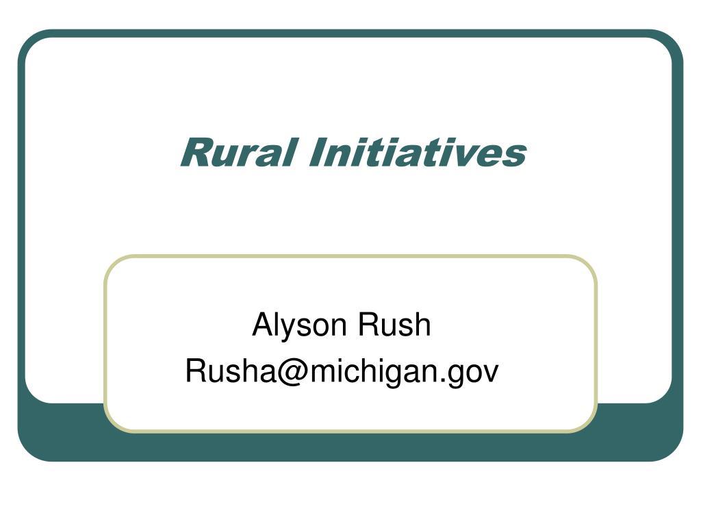 Rural Initiatives