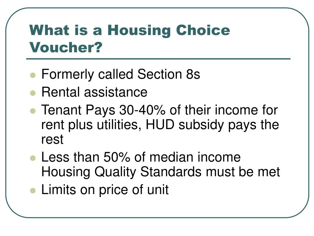 What is a Housing Choice Voucher?
