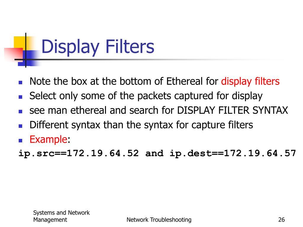 Display Filters