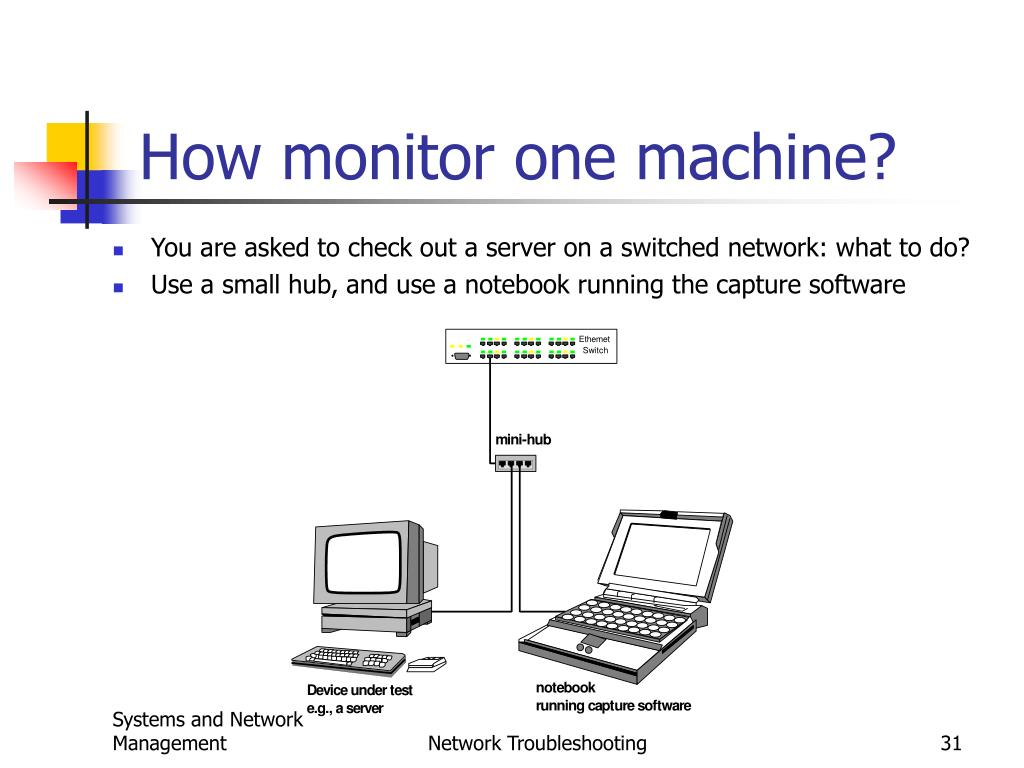 How monitor one machine?
