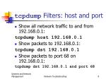tcpdump filters host and port