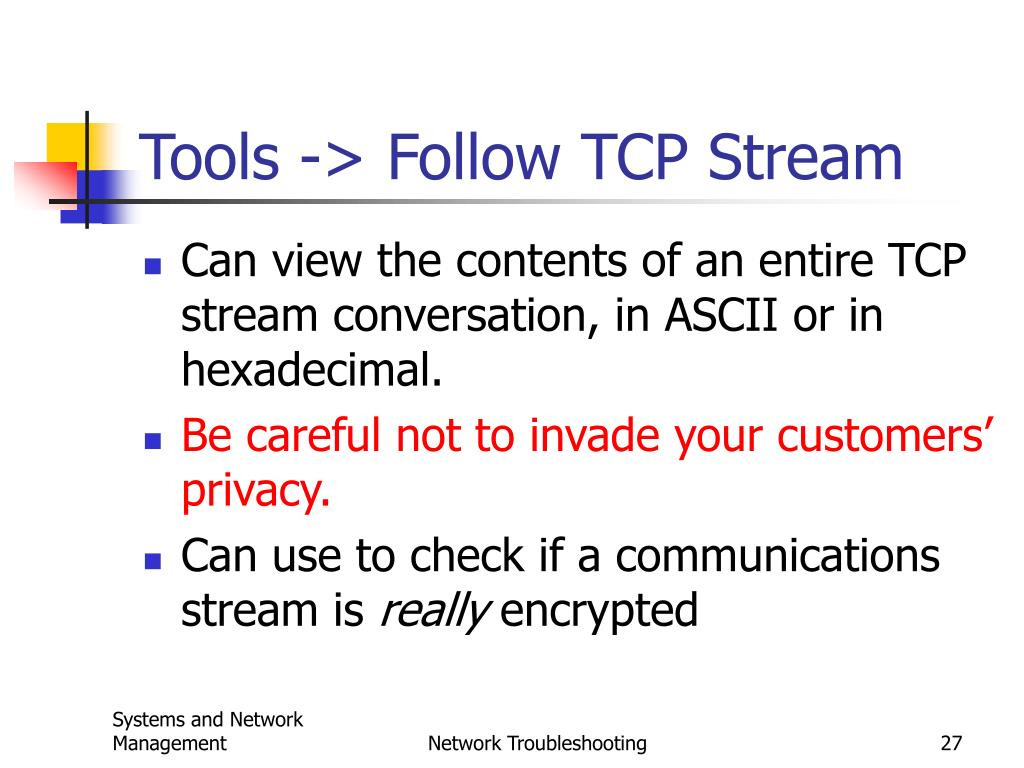Tools -> Follow TCP Stream