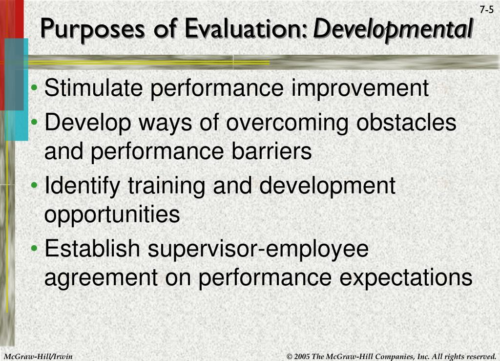 evaluating the purpose and effectiveness of