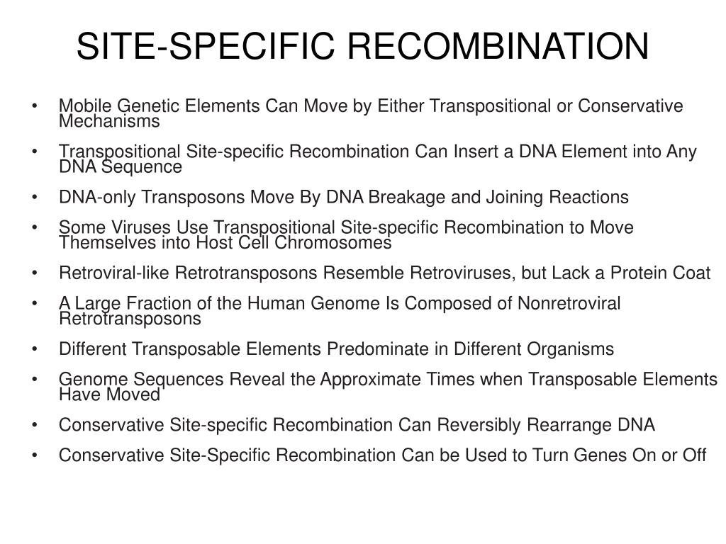 SITE-SPECIFIC RECOMBINATION