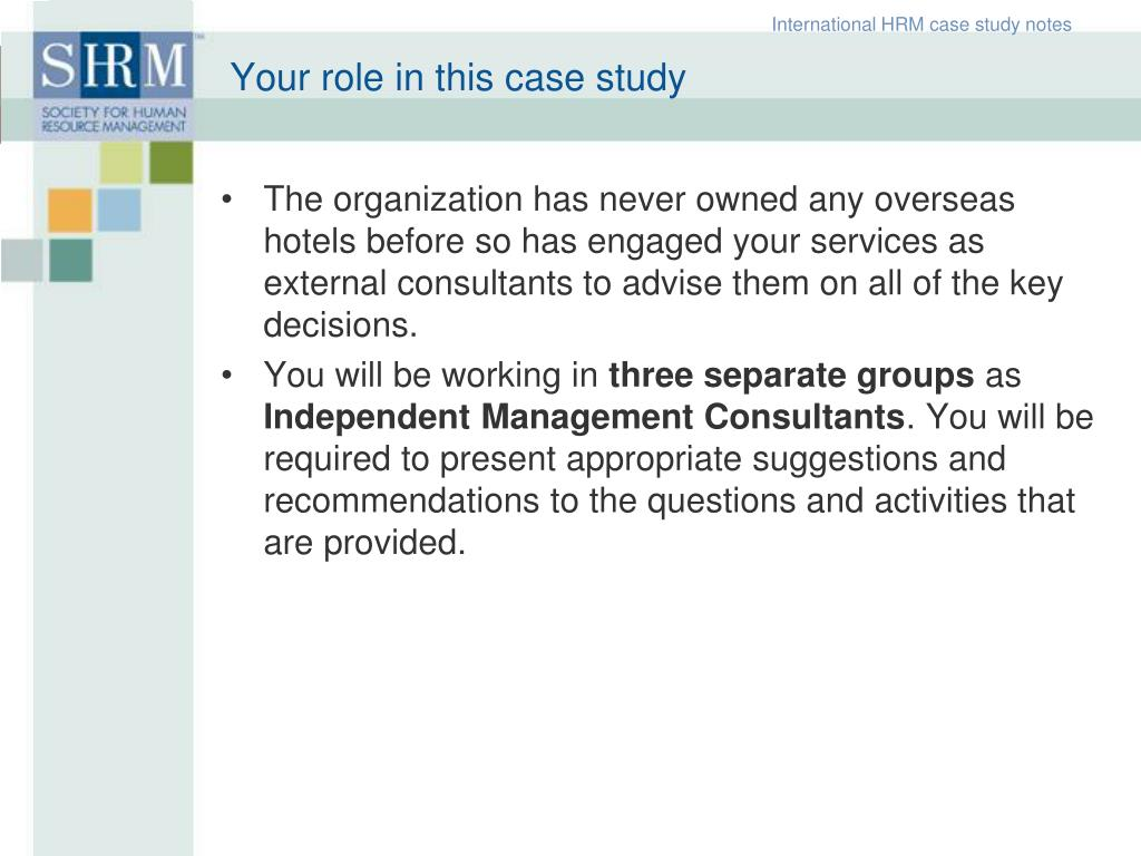 International HRM case study notes
