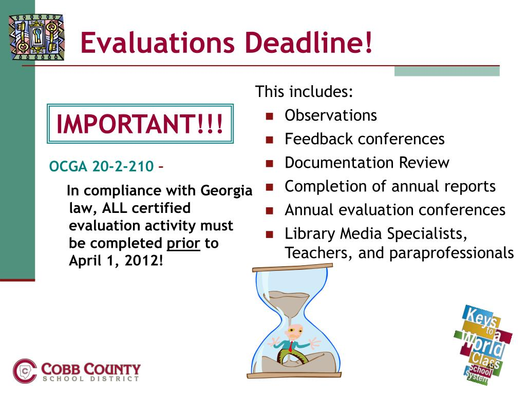 Evaluations Deadline!