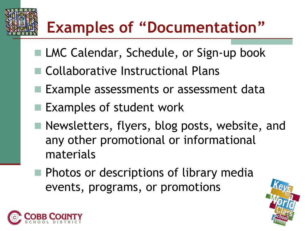 "Examples of ""Documentation"""