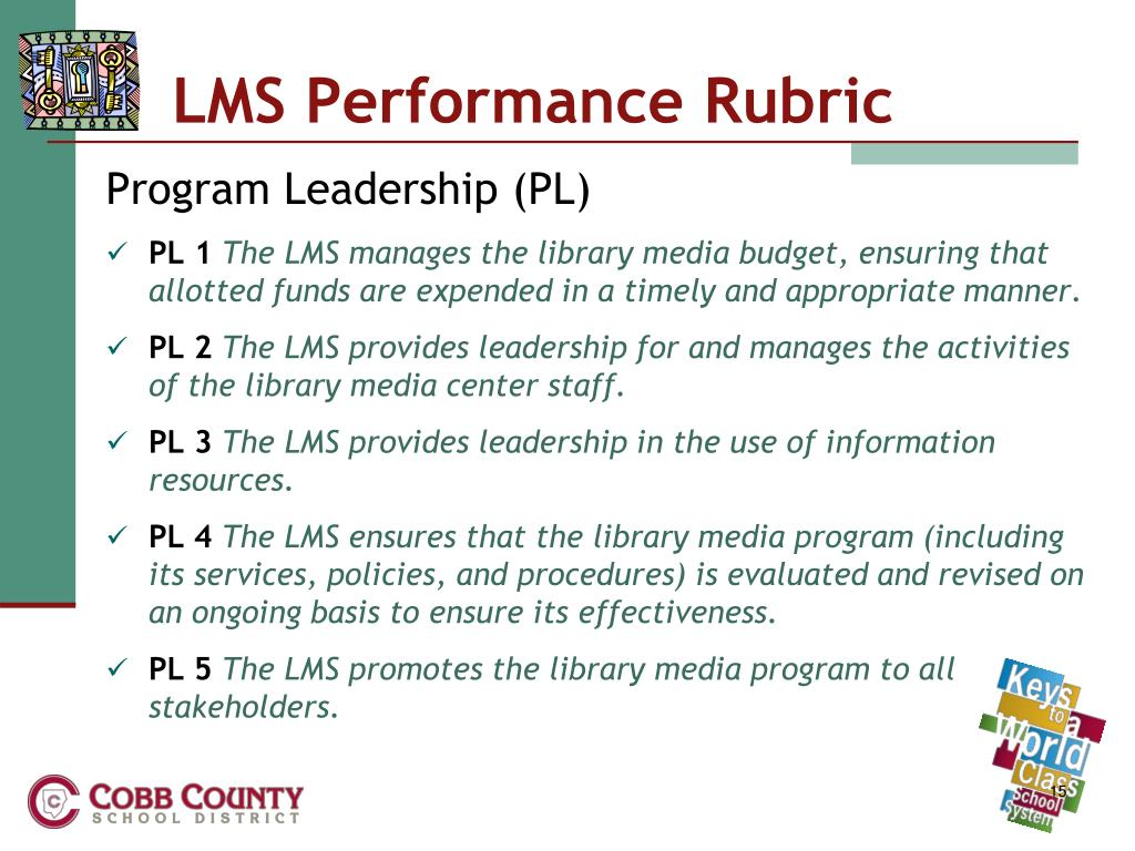 LMS Performance Rubric