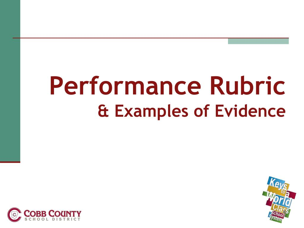 Performance Rubric
