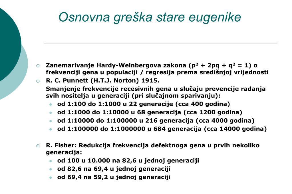 Osnovna greška stare eugenike