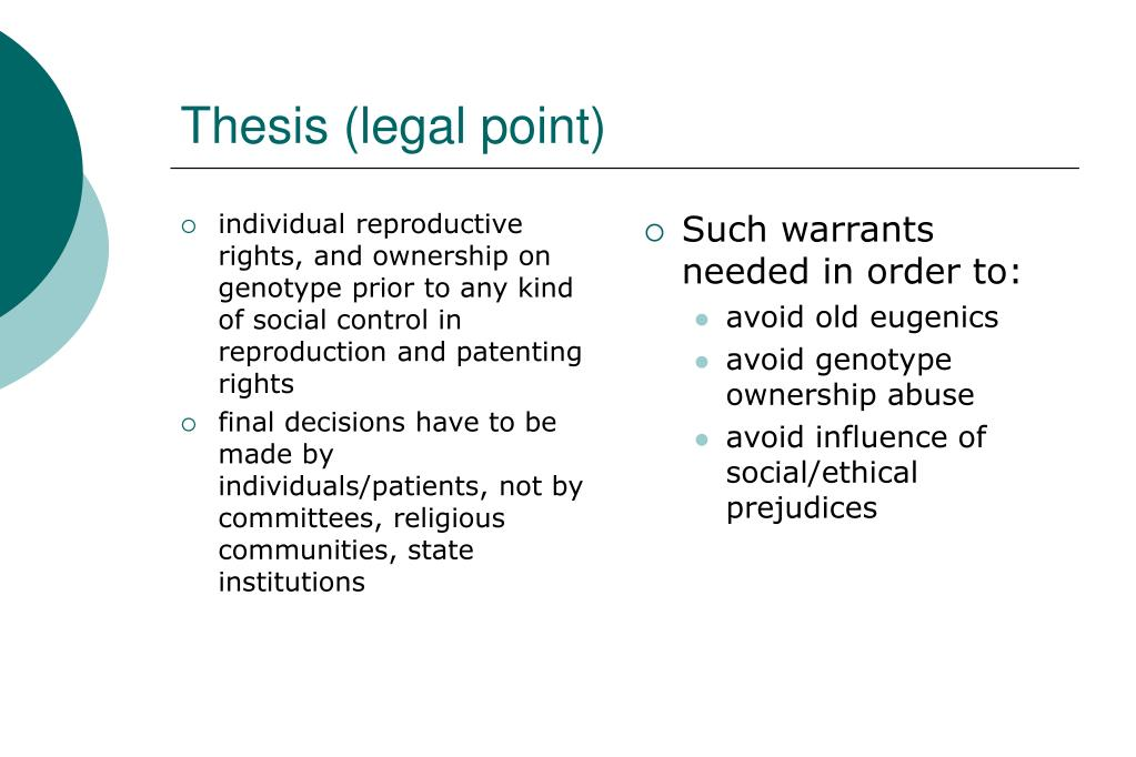 individual reproductive rights, and ownership on genotype prior to any kind of social control in reproduction and patenting rights