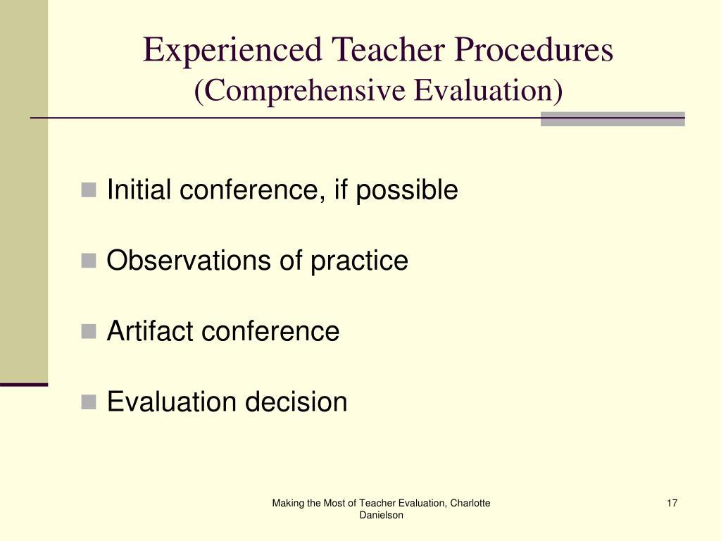 Experienced Teacher Procedures