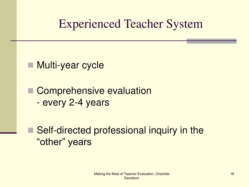 Experienced Teacher System