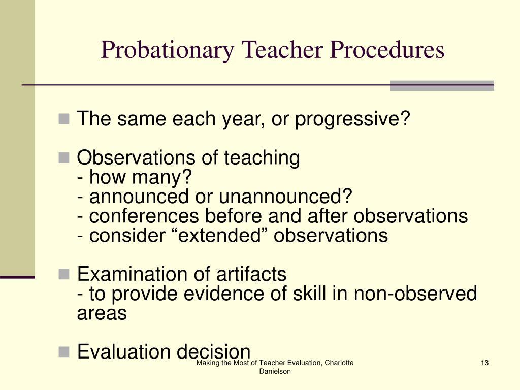 Probationary Teacher Procedures