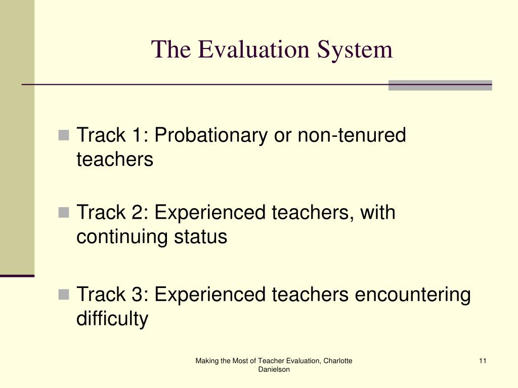 The Evaluation System