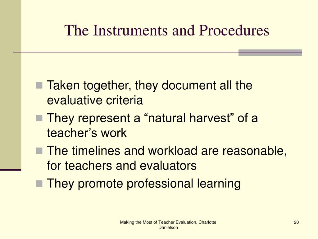 The Instruments and Procedures