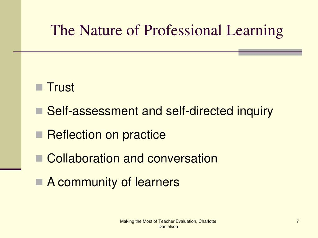 The Nature of Professional Learning