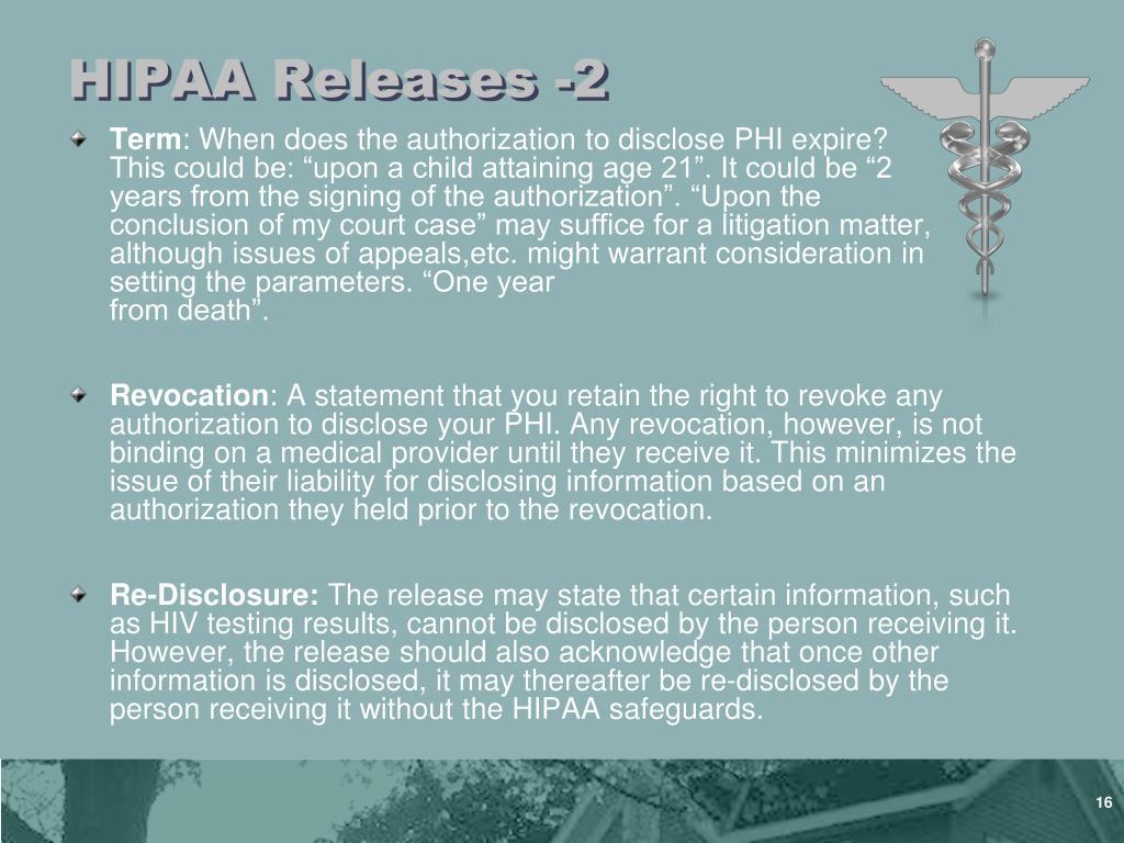 HIPAA Releases -2